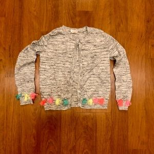 Girls Cat & Jack Buttoned Tassle Sweater